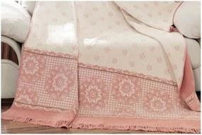 Pătură din bumbac Aksu Sweety, 220 x 180 cm