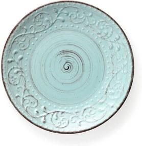 Farfurie din ceramică Brandani Serendipity, ⌀ 27,5 cm, turcoaz