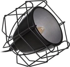Veioza neagra din metal 20 cm Modern Ixia