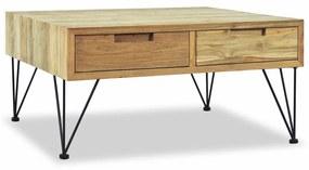 244574 vidaXL Măsuță de cafea, 80 x 80 x 40 cm, lemn de tec masiv