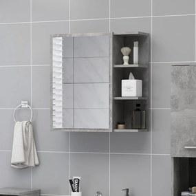 803312 vidaXL Dulap de baie cu oglindă, gri beton, 62,5 x 20,5 x 64 cm, PAL