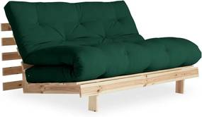 Canapea extensibilă Karup Design Roots Raw/Forest Green