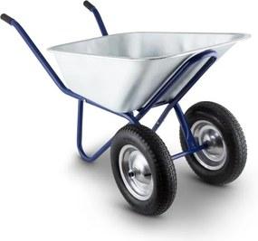 Waldbeck Heavy Load Roaba 120l 320 kg în grădină coș Bauschubkarre oțel 2 roți albastru