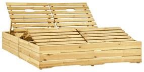 315405 vidaXL Șezlong de grădină dublu, lemn de pin tratat verde