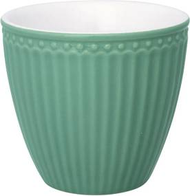 Cană din ceramică Green Gate Alice Latté, 300 ml, verde închis