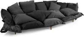 Canapea neagra din material textil 300 x 150 cm Comfy Sofa Seletti