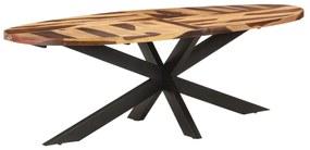 321680 vidaXL Masă de bucătărie, 240x100x75 cm, lemn acacia, finisaj sheesham