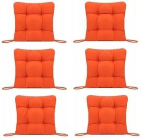 Set Perne decorative pentru scaun de bucatarie sau terasa, dimensiuni 40x40cm, culoare Orange, 6 buc/set