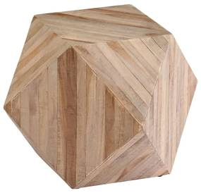 246096 vidaXL Masă laterală, 40 x 40 x 40 cm, lemn de tec reciclat