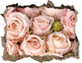 Fototapet un zid spart cu priveliște Trandafiri