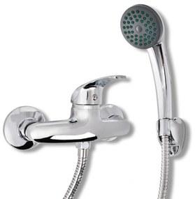 Set baterie robinet duș pentru baie, crom