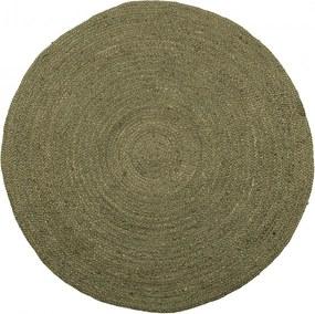 Covor verde din iuta 150 cm Ross Woood