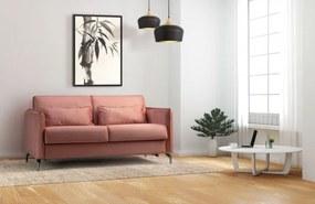 Canapea extensibila tapitata cu stofa, 3 locuri Fiona Caramiziu, l186xA99xH92 cm