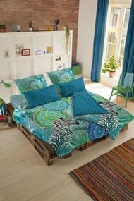Home lenjerie de plapuma reversibila verde pentru pat dublu Hip Talisa 200x200/220cm