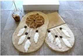 Set 3 covorașe de baie Confetti Bathmats Indian