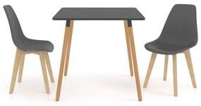 3055480 vidaXL Set mobilier de bucătărie, 3 piese, gri