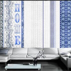 Fototapet Bimago - Vintage home - blue + Adeziv gratuit 250x175 cm