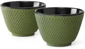 Set 2 cești din fontă Bredemeijer Xilin, ⌀ 7,8 cm, verde