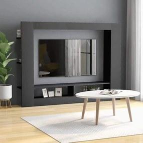 Comoda TV, gri, 152 x 22 x 113 cm, PAL