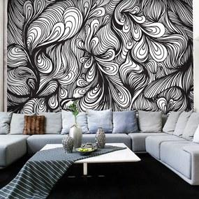 Fototapet Bimago - Black and white retro style + Adeziv gratuit 200x154 cm