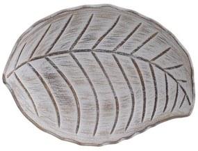 Platou din lemn Beige Leaf  30cm x 22cm x 5cm