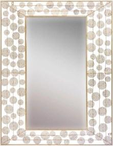 Oglindă de perete Mauro Ferretti Dish Glam, 85 x 110 cm, auriu