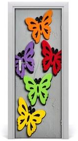 Autocolante pentru usi fluturi colorat