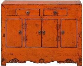 Comoda portocalie din pin 115 cm Sideboard Versmissen
