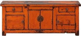 Comoda portocalie din pin 158 cm Sideboard Versmissen