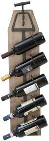 Suport de perete pentru sticle de vin CORK, 20X12.5X86 cm, Mauro Ferretti