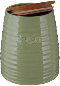 Recipient pentru ceai cu capac din bambus Premier Housewares Winnie, 950 ml, verde