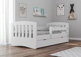 Pat Classic pentru copii - alb 160x80 cm pat + spațiu de depozitare