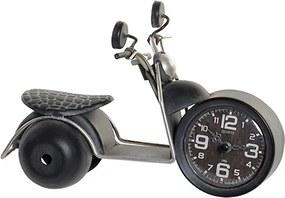 Ceas Motorcycle din metal negru si sticla 24x13 cm - 2 modele la alegere