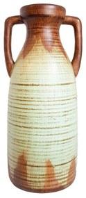 Vaza ceramica Amfora, Bleu, 38 cm