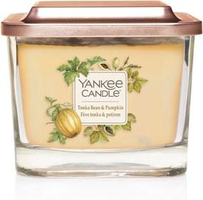 Yankee Candle lumanare parfumata Elevation Tonka & Pumkin pătrata mijlocie 3 fitile