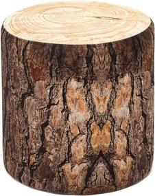 Taburet cu aspect de lemn Balcab Home Log
