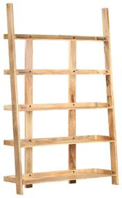 320220 vidaXL Bibliotecă cu 5 rafturi, 120 x 37 x 180 cm, lemn masiv mango