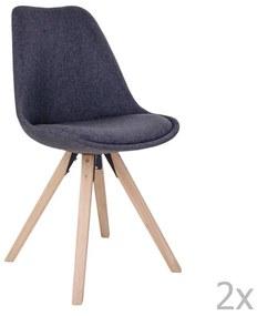 Set 2 scaune House Nordic Bergen, gri închis