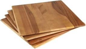 Set 4 suporturi din lemn de salcâm pentru farfurii T&G Woodware Tuscany
