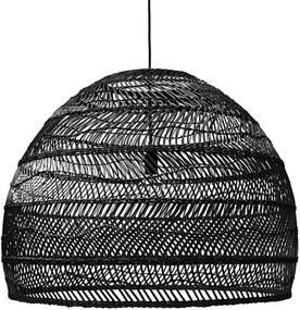 Lampa Suspendata din Rachita Natur M - Rachita Negru Diametru (60x60x50 cm)