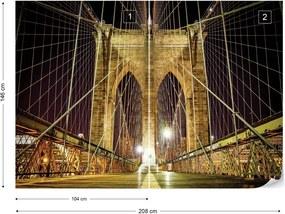 Fototapet GLIX - Brooklyn Bridge New York + adeziv GRATUIT Tapet nețesute - 254x184 cm