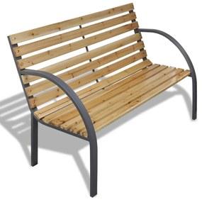 41014 vidaXL Bancă de grădină, 120 cm, lemn și fier