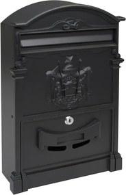 Cutie poștală din aluminiu Vintage, negru