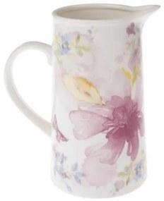 Carafă Flower din porțelan, 1,1 l,