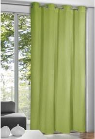 Draperie cu inele Alessandro verde, 135 x 245 cm
