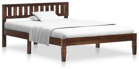 288405 vidaXL Cadru de pat, 120 cm, lemn masiv de mango
