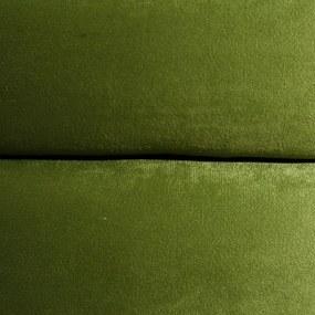 Puf Verde din Catifea 65cm IXIA - Catifea Verde Diametru (65cm) x Inaltime (43cm)