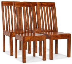275273 vidaXL Scaune de masă 4 buc. lemn masiv, finisaj palisandru, moderne