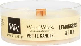 WoodWick lumanare parfumata Petite Lemongrass & Lily