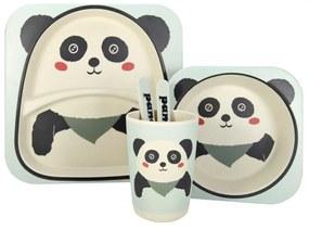 Set de masa pentru copii 5 piese Panda, bambus